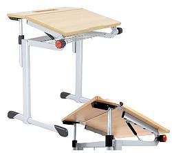 Schülertisch mit neigbarer Tischplatte