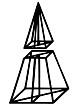 Quadratischer Pyramiden-Stumpf-Ergänzung - Kantenmodell